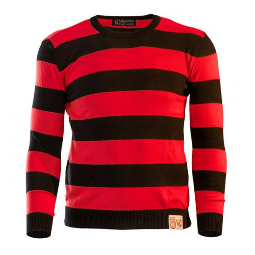 13 1-2 OUTLAW SWEATER BLACK&RED