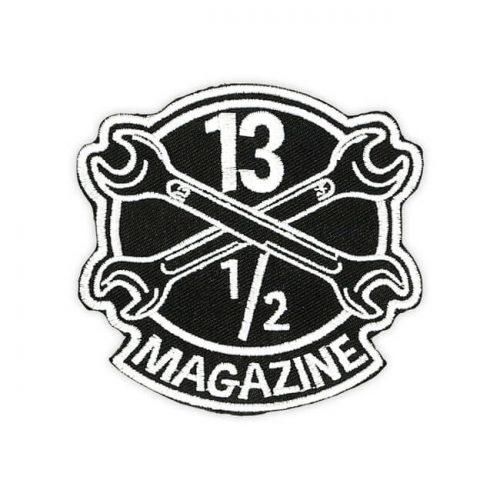 Parche de a marca 13 and a Half Magazine con su logo