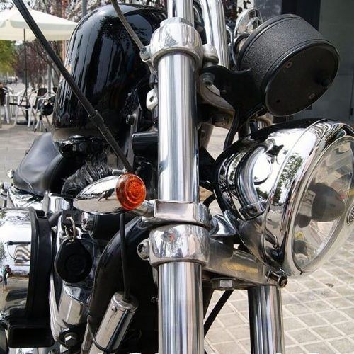 Abrazaderas de intermitente cromadas para barras de 41mm (2 unidades)