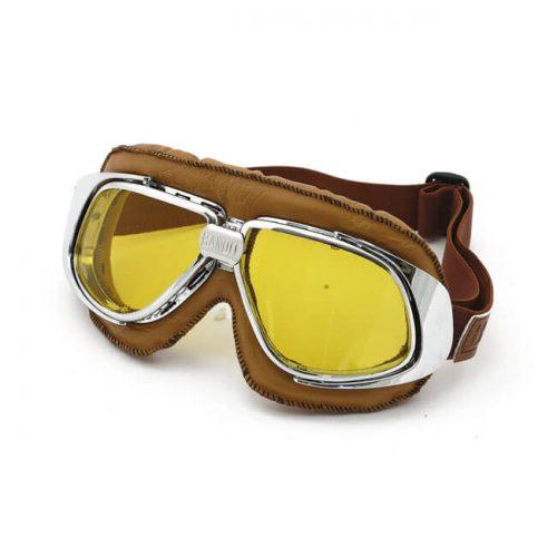 Gafas Bandit Classic Goggles marrones lente amarilla