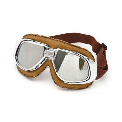 Gafas Bandit Classic Goggles marrones lente cromada