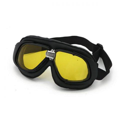 Gafas Bandit Classic Goggles negras lente amarilla