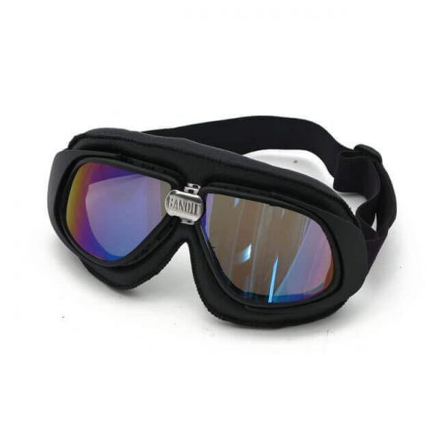 Gafas Bandit Classic Goggles negras lente rainbow