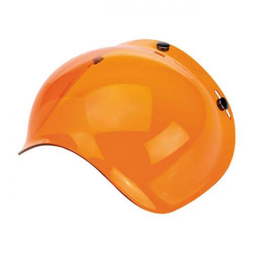 Pantalla Bubble naranja de la marca Biltwell. Válida para: Gringo y Bonanza