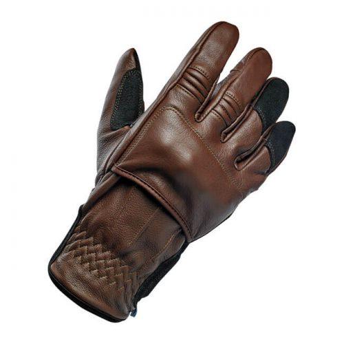 Guantes Biltwell Belden de piel chocolate/negro