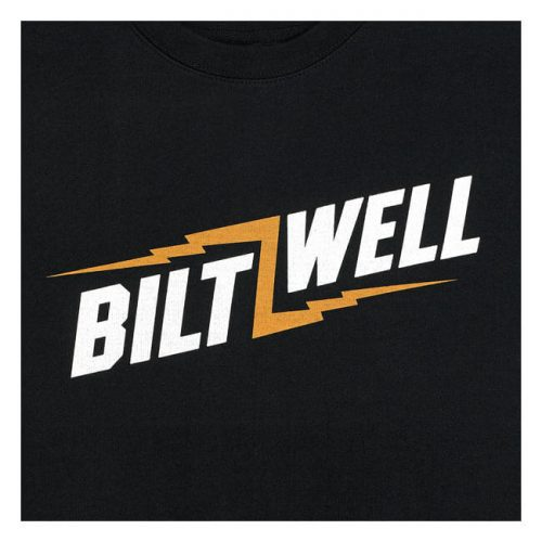 Sudadera Biltwell Bolts cuello redondo negra