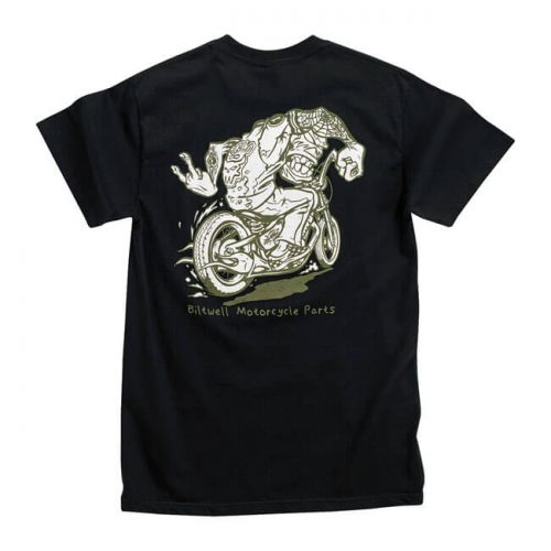 Camiseta negra de la marca Biltwell el diablo run