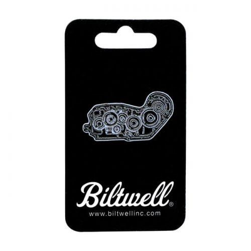 Pin Biltwell 4 Cam esmaltado negro/blanco