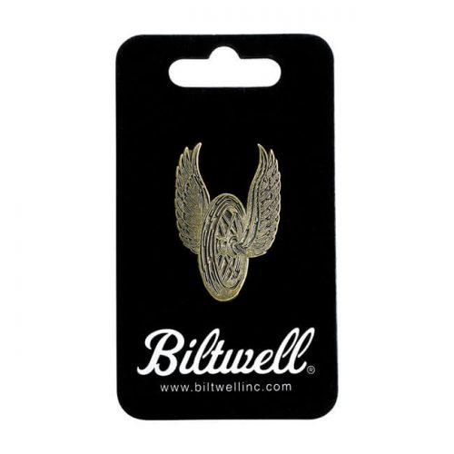 Pin Biltwell Winged Wheel Antique Weathered