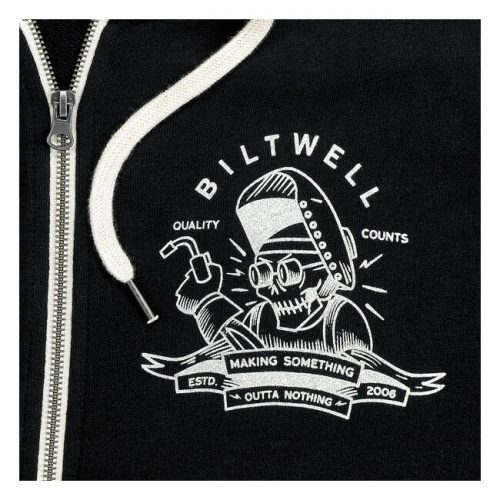 Sudadera Biltwell Nothing Zip negra