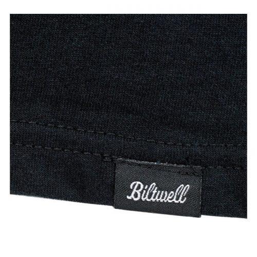 Camiseta Biltwell con nombre de la marca estampado en gris