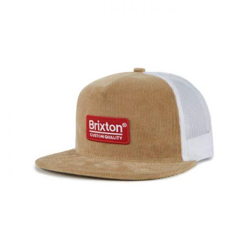 Gorra Brixton Palmer de pana marrón