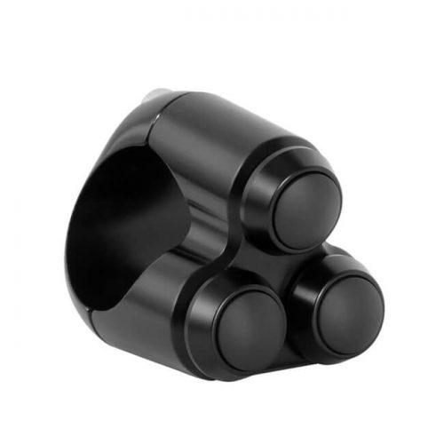 Botonera 3 pulsadores Motone negra
