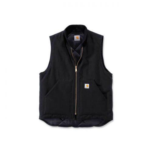 Chaleco Carhartt Duck Vest Arctic Quilt Lined negro