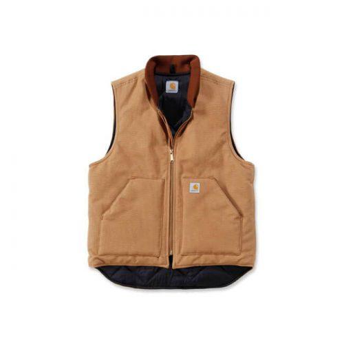 Chaleco Carhartt Duck Vest Arctic Quilt Lined marrón