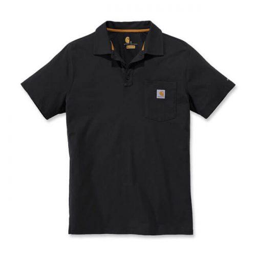 Confeccionado en 65% algodón y 35% poliéster, tejido de punto. Cuello con 3 botones en la parte delantera y un bolsillo en el pecho con logo de la marca