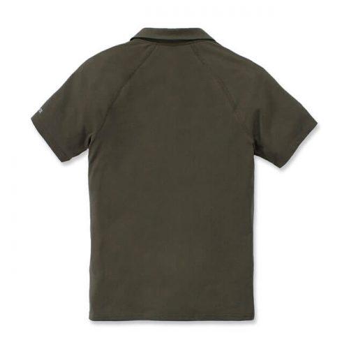 Confeccionado en 65% algodón y 35% poliéster, tejido de punto. Cuello con 3 botones en la parte delantera y un bolsillo en el pecho con logo de la marca verde