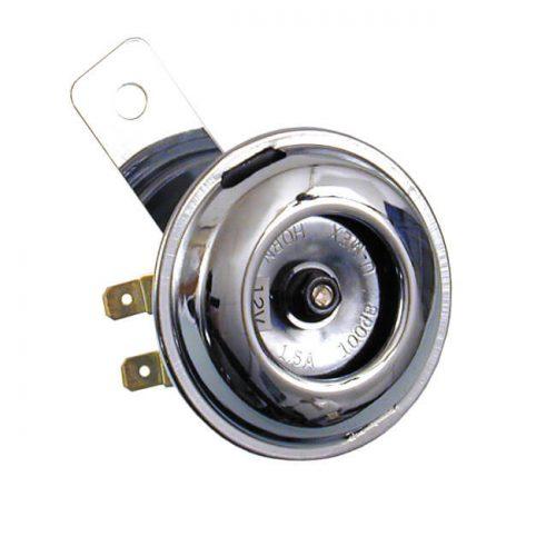 Claxon cromado 65 mm 12v 1,5A