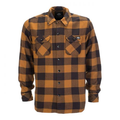 DICKIES SACRAMENTO SHIRT BROWN DUCK 1