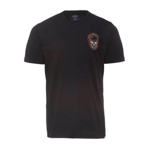 Camiseta de la marca Dickies fabricada en algodón 100x100 con estampado en la parte delantera y trasera