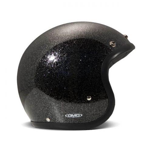 Casco jet DMD Vintage Glitter Black ECE