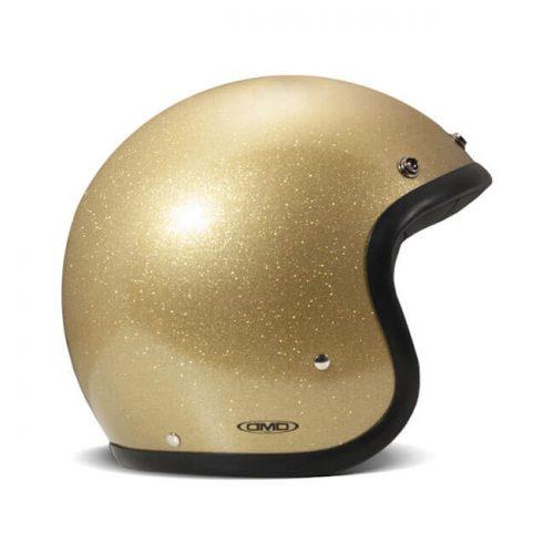 Casco jet DMD Vintage Glitter Gold ECE