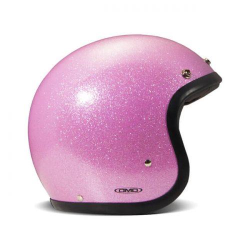 Casco jet DMD Vintage Glitter Pink ECE
