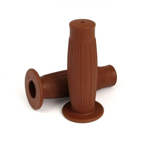 GRIPSTER, HANDLEBAR GRIP SET BROWN WITH BIG FLANGE 7-8 PULGADAS 1