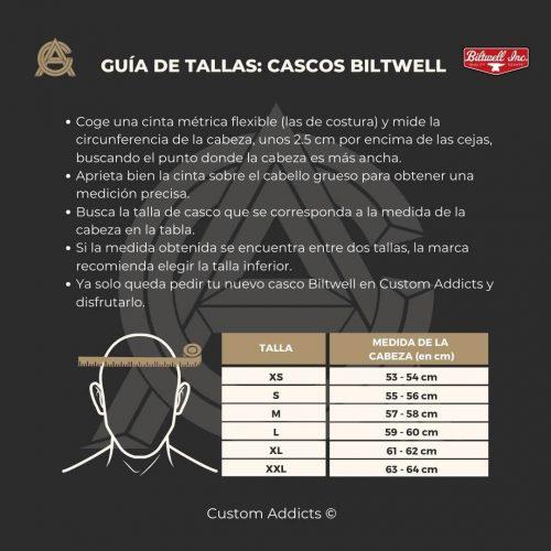 Guía de tallas Casco biltwell