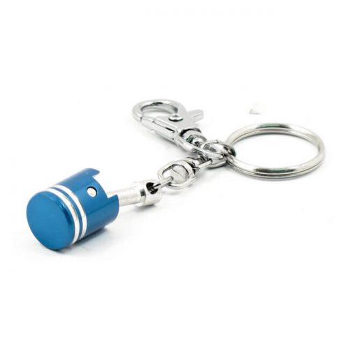 Llavero MCS tipo pistón azul
