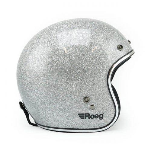 Casco jet Roeg Disco Ball Silver ECE