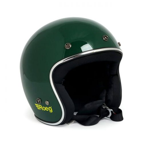 Casco jet Roeg Green Gloss ECE
