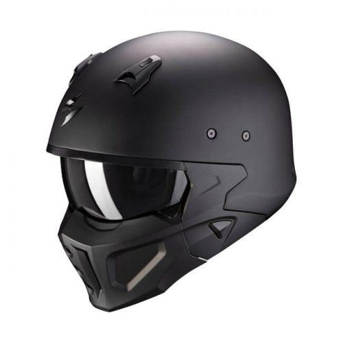 Casco integral Scorpion Covert-X Solid Matte black ECE