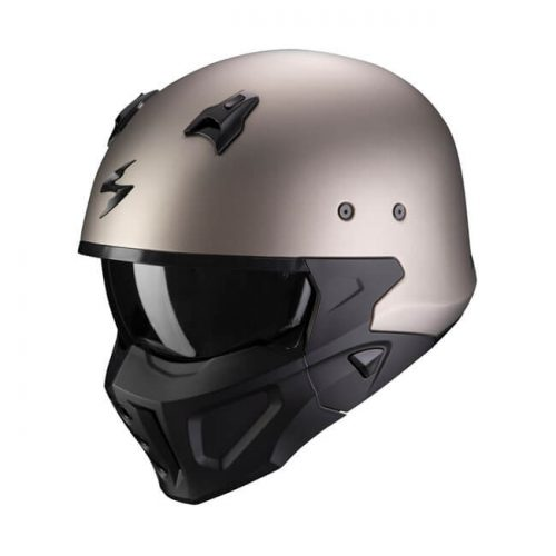 Casco integral Scorpion Covert-X Solid Matte Titanium ECE