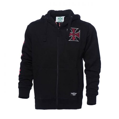 Sudadera West Coast Choppers Chief Zip negra