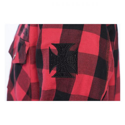 Camisa kevlar WCC Dominator Riding negra/roja