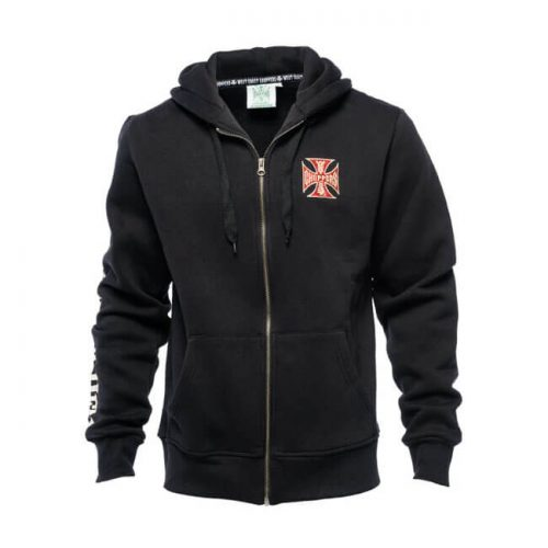 Sudadera West Coast Choppers El Diablo Zip negra